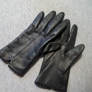 Black Leather Gloves by Eddie Bauer Ladies M